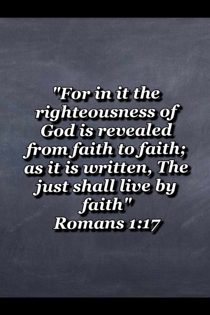 bible varses wallpaper faith (Romans 1:17)