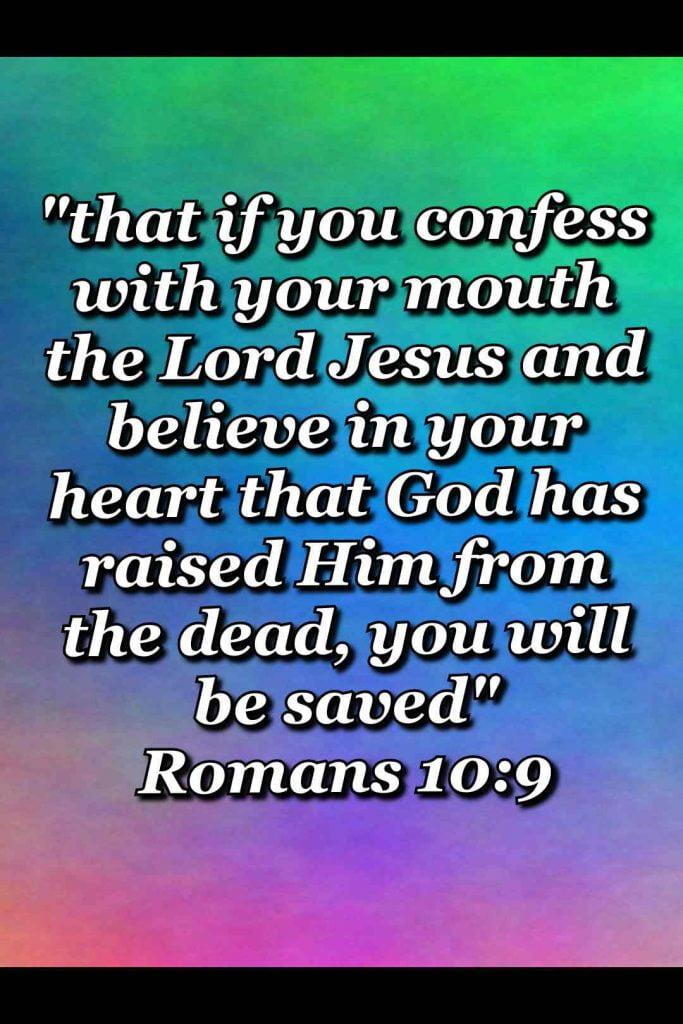 bible varses wallpaper faith (Romans 10:9)