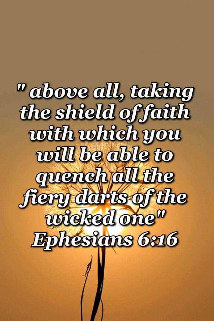 bible varses wallpaper faith (Ephesians 6:16)