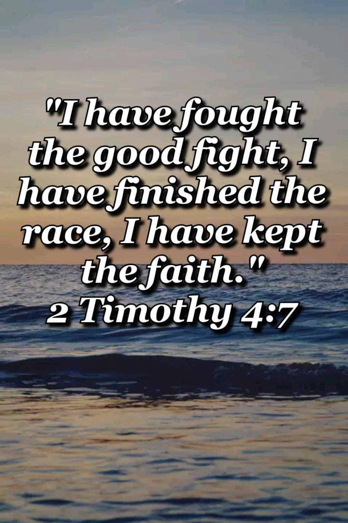 bible varses wallpaper faith (2 Timothy 4:7)