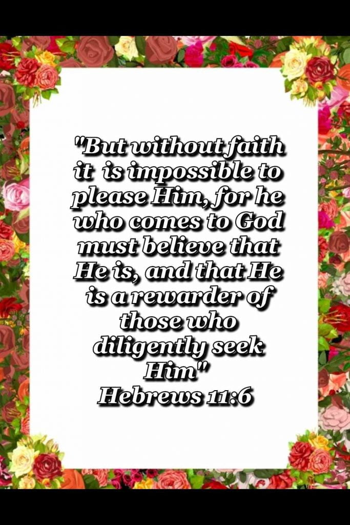 bible varses wallpaper faith (Hebrews 11:6)