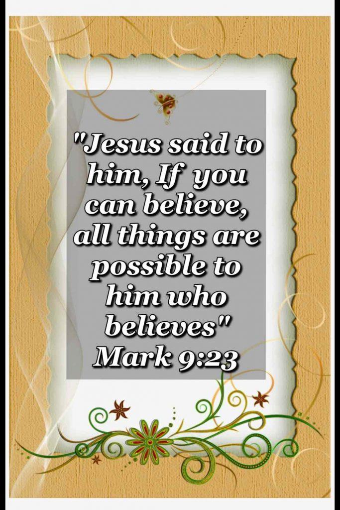 bible verse wallpaper (Mark 9:23)