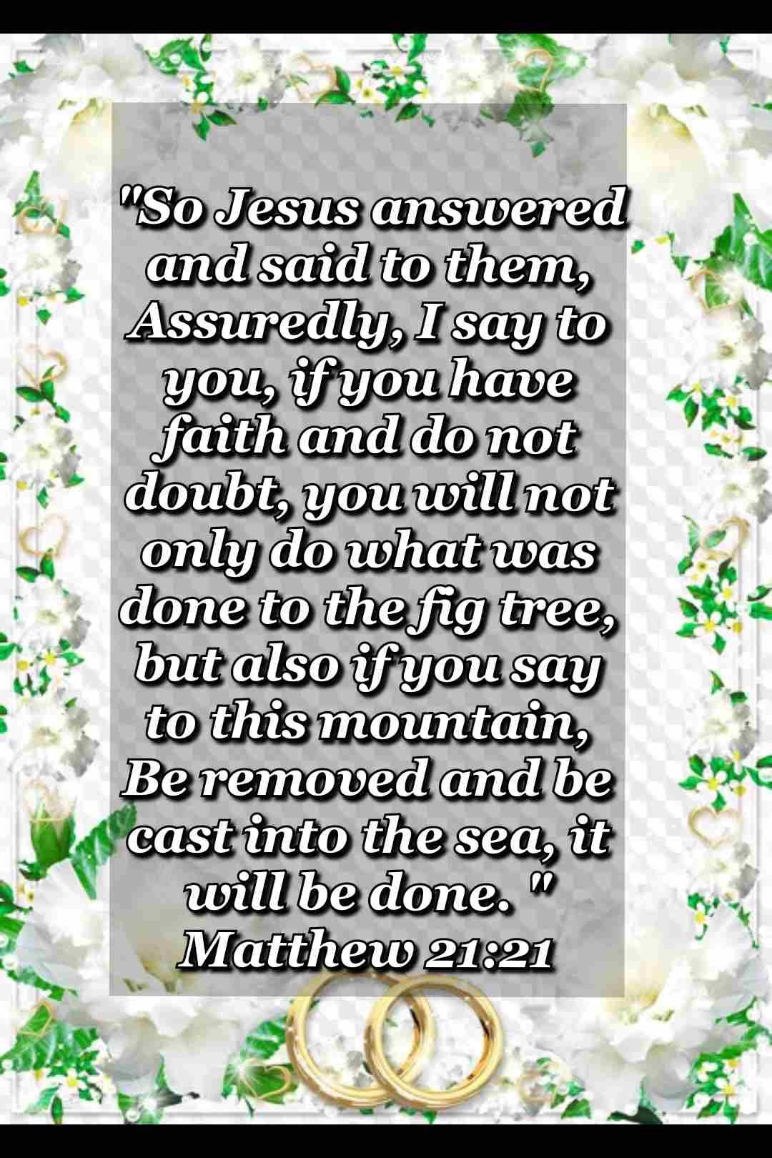 bible verse wallpaper (Matthew 21:21)