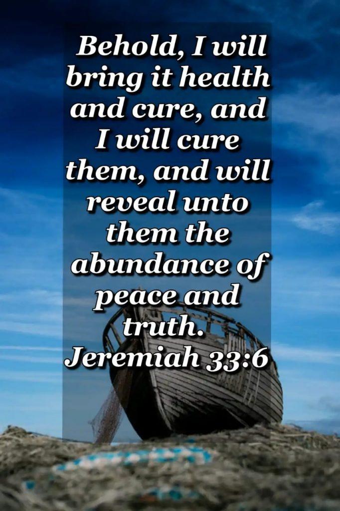 Bible Healing Scriptures(Jeremiah 33:6)